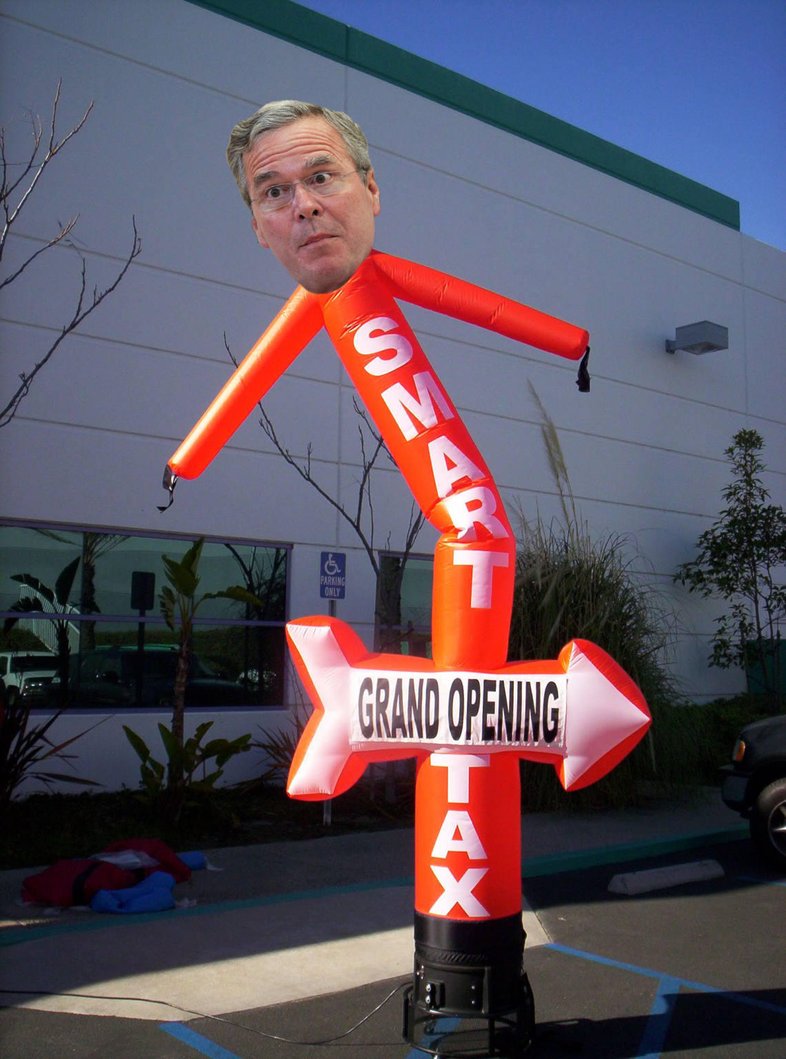 Jeb Bush Suspends Campaign To Become Inflatable Man Outside Car